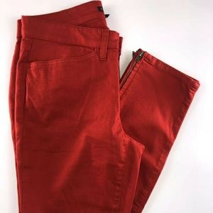 Eileen Fisher Red Slender Leg Low Rise Jeans DN10